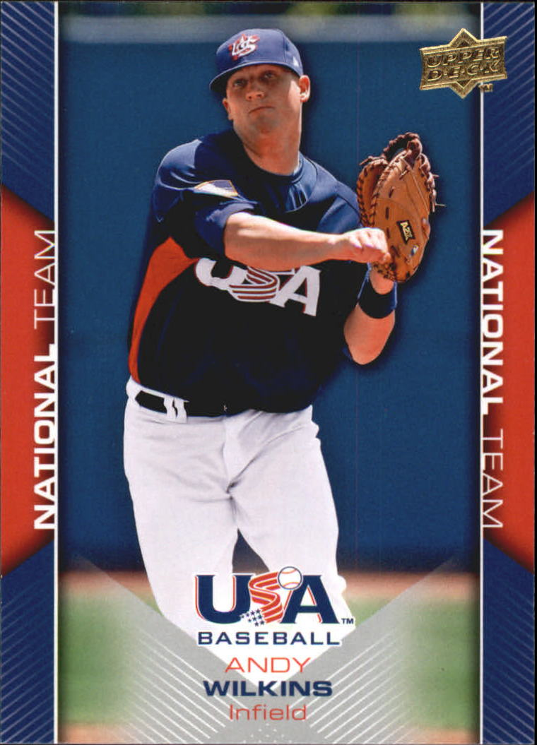 2009-10 USA Baseball #USA21 Andy Wilkins