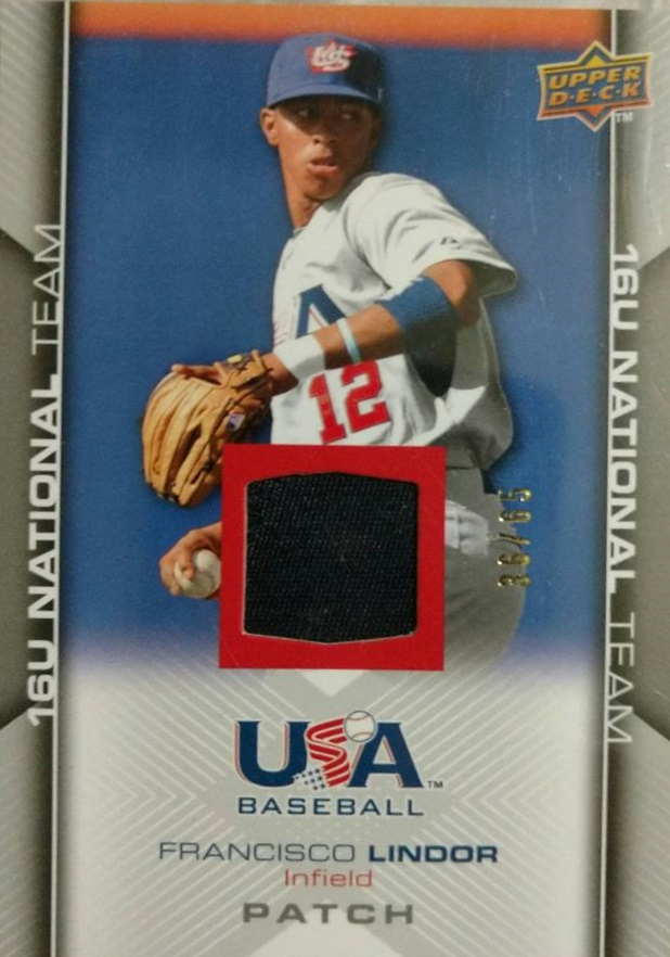 2009-10 USA Baseball #USA132 Francisco Lindor Jsy