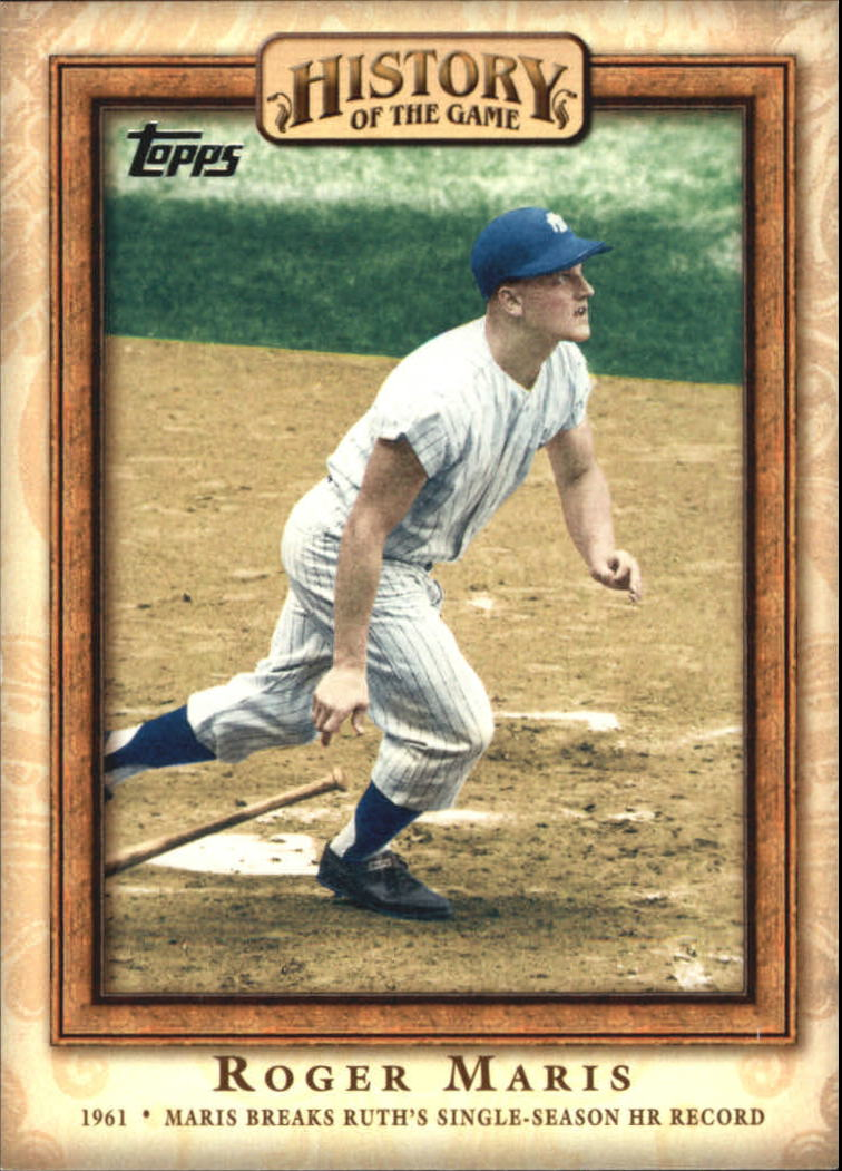 2010 Topps History of the Game #HOG18 Roger Maris/Maris Breaks Ruth's HR Record