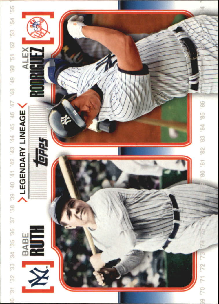 2010 Topps Legendary Lineage #LL3 Babe Ruth/Alex Rodriguez