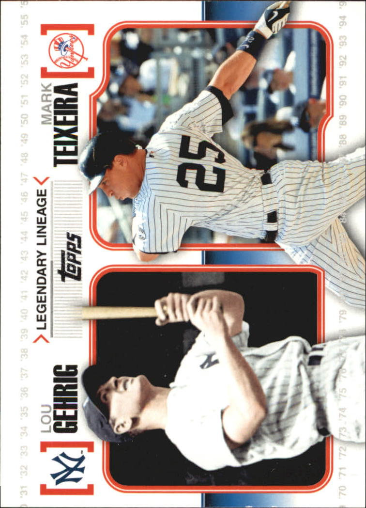 2010 Topps Legendary Lineage #LL4 Lou Gehrig/Mark Teixeira