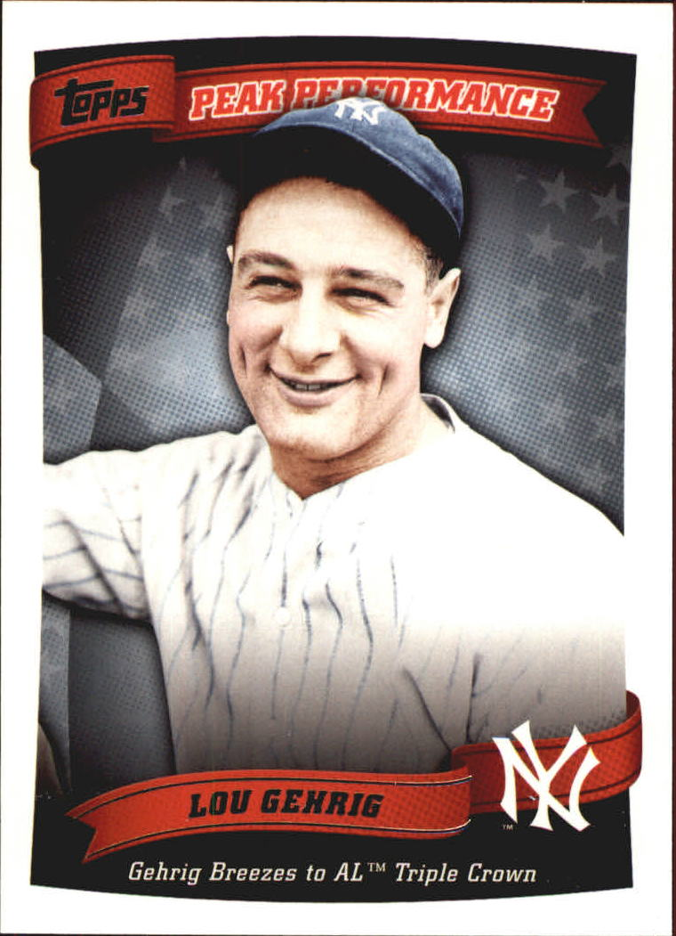 2010 Topps Peak Performance #12 Lou Gehrig