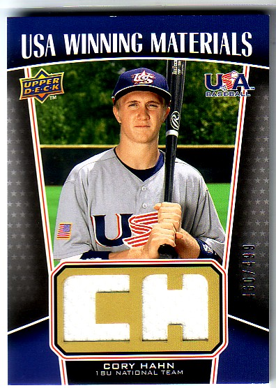 2009 Upper Deck Signature Stars USA Winning Materials #7 Cory Hahn