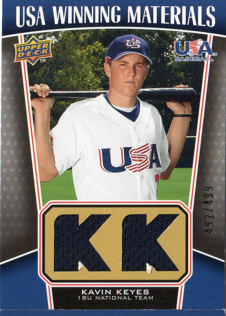 2009 Upper Deck Signature Stars USA Winning Materials #9 Kavin Keyes