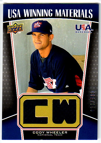 2009 Upper Deck Signature Stars USA Winning Materials #23 Cody Wheeler