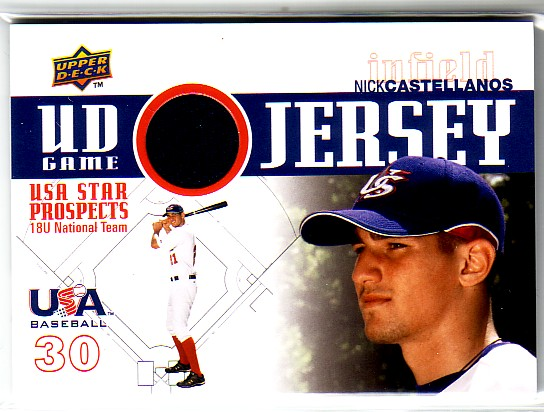 2009 Upper Deck Signature Stars USA Star Prospects Jerseys #2 Nick Castellanos