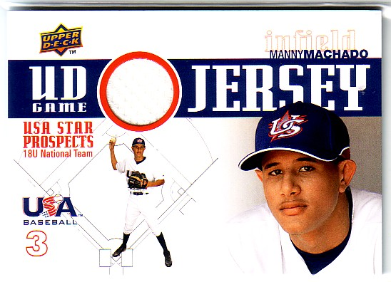2009 Upper Deck Signature Stars USA Star Prospects Jerseys #10 Manny Machado
