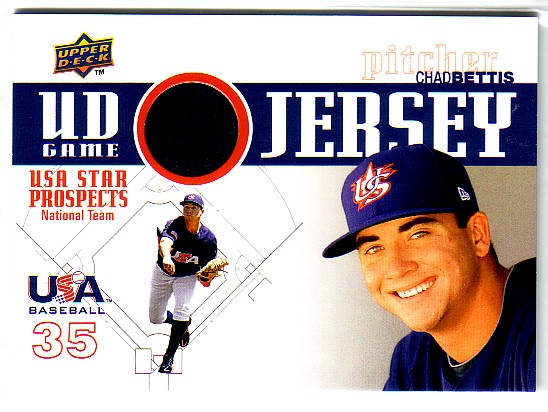2009 Upper Deck Signature Stars USA Star Prospects Jerseys #22 Chad Bettis