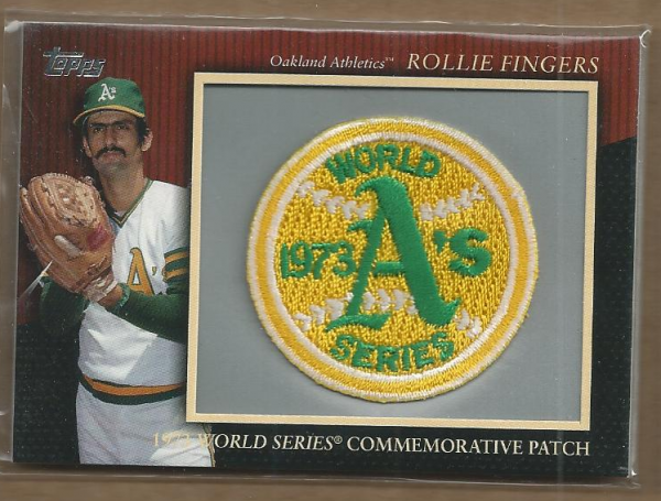 2010 Topps Commemorative Patch #MCP125 Rollie Fingers