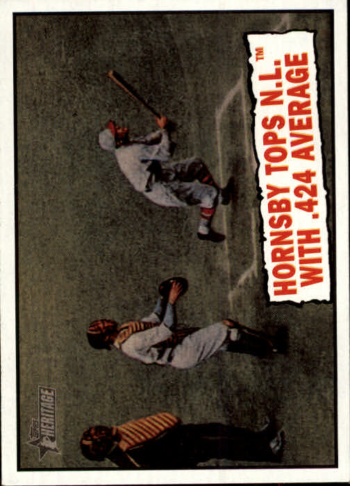 2010 Topps Heritage #404 Rogers Hornsby BT