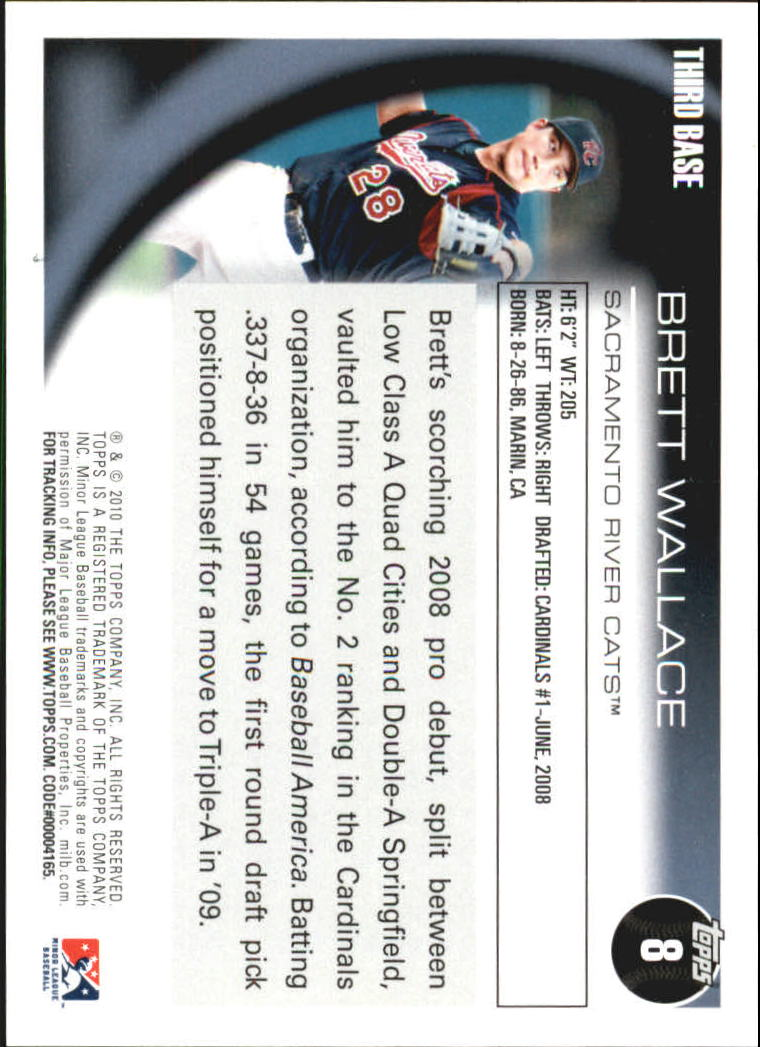 2010 Topps Pro Debut #8 Brett Wallace back image