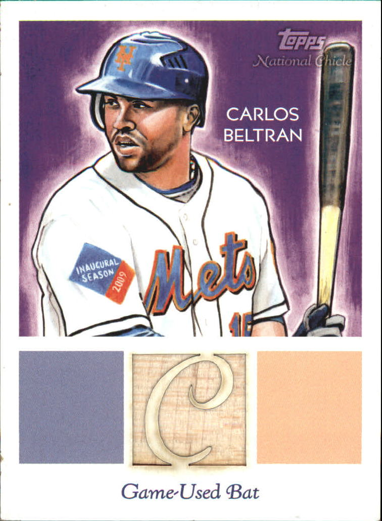 2010 Topps National Chicle Relics #CB Carlos Beltran B