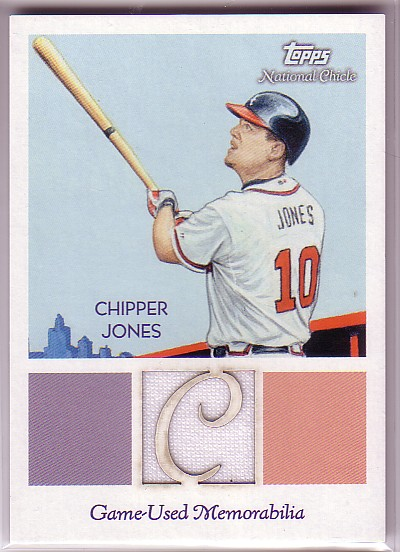 2010 Topps National Chicle Relics #CJ Chipper Jones A