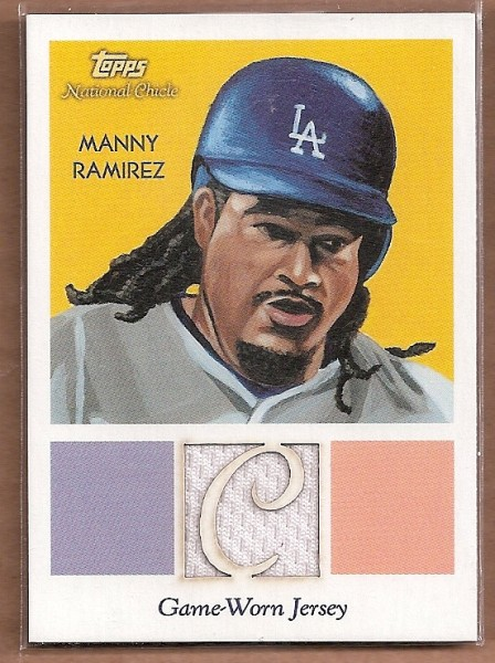 2010 Topps National Chicle Relics #MR Manny Ramirez B