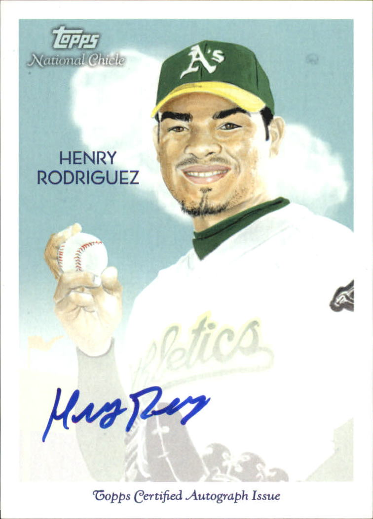 2010 Topps National Chicle Autographs #HR Henry Rodriguez A