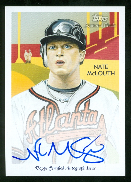 2010 Topps National Chicle Autographs #NM Nate McLouth A