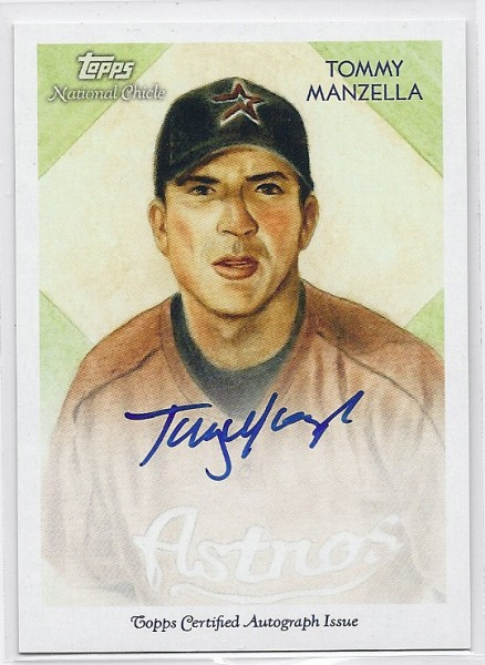 2010 Topps National Chicle Autographs #TM Tommy Manzella A