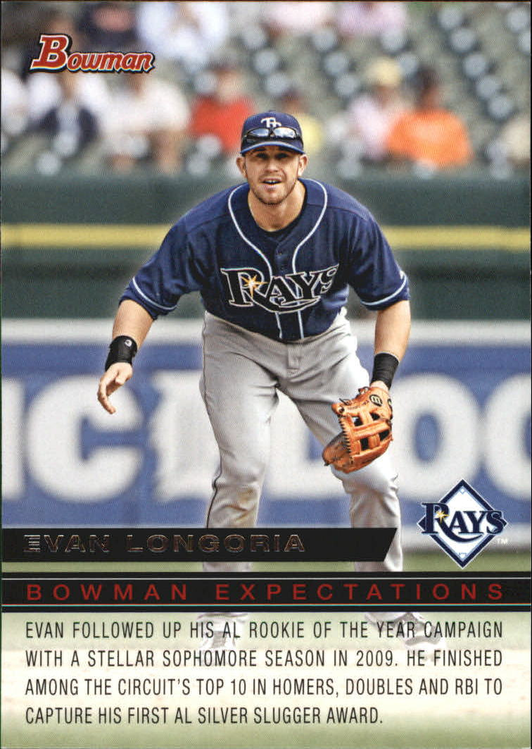 2010 Bowman Expectations #BE15 Evan Longoria/Alex Liddi