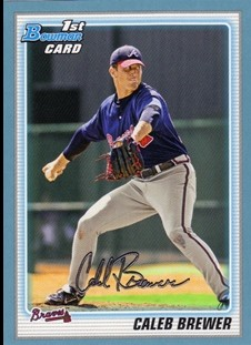 2010 Bowman Prospects Blue #BP81 Caleb Brewer