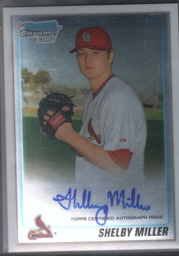 2010 Bowman Chrome Prospects #BCP204B Shelby Miller AU