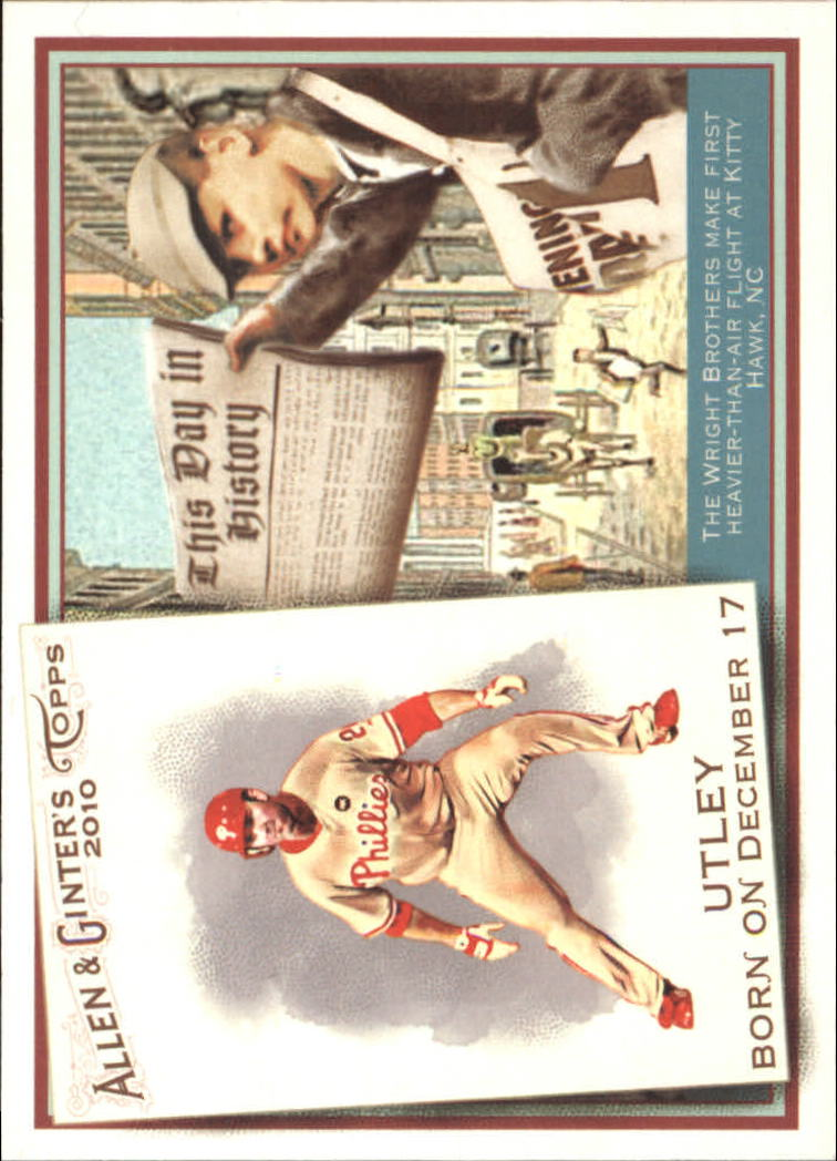 2010 Topps Allen and Ginter This Day in History #TDH1 Chase Utley