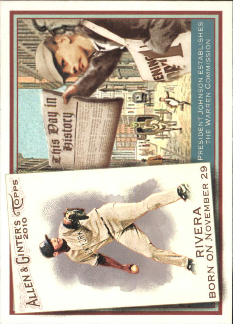 2010 Topps Allen and Ginter This Day in History #TDH75 Mariano Rivera