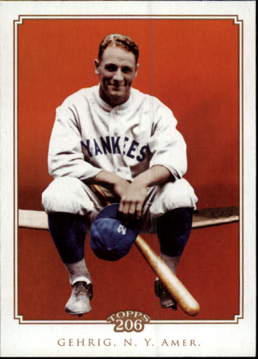2010 Topps 206 #182 Lou Gehrig