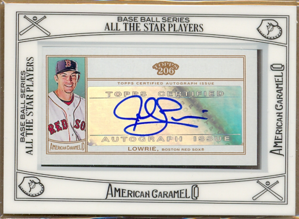 2010 Topps 206 Mini Framed American Caramel Autographs #JL Jed Lowrie