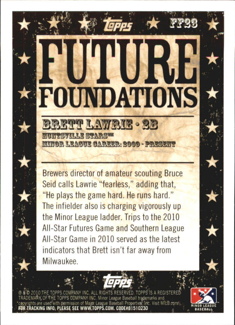 2010 Topps Pro Debut Future Foundations #FF23 Brett Lawrie back image