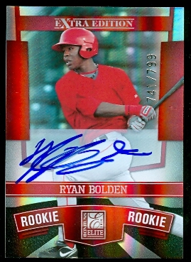 2010 Donruss Elite Extra Edition #122 Ryan Bolden AU/799