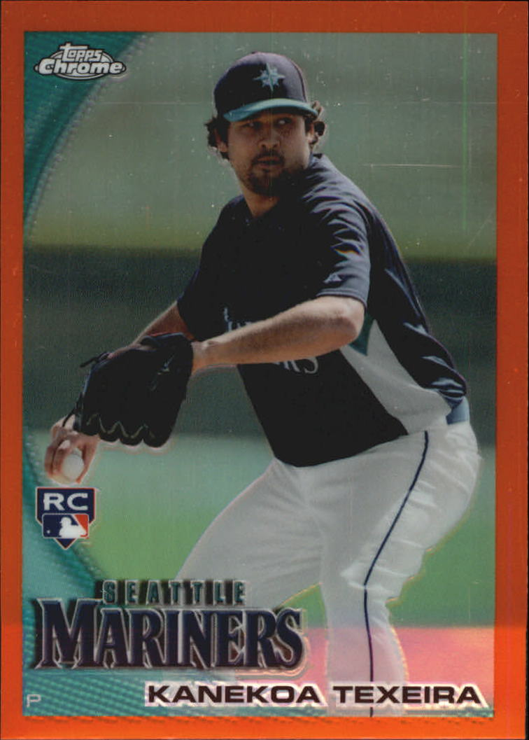 2010 Topps Chrome Orange Refractors #208 Kanekoa Texeira