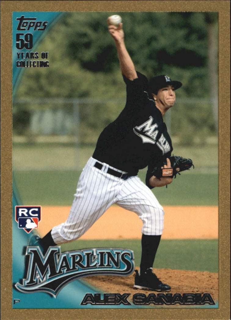 2010 Topps Update Gold #US287 Alex Sanabia
