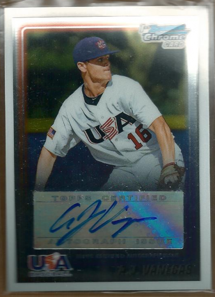 2010 Bowman Chrome 18U USA Baseball Autographs #AV A.J. Vanegas