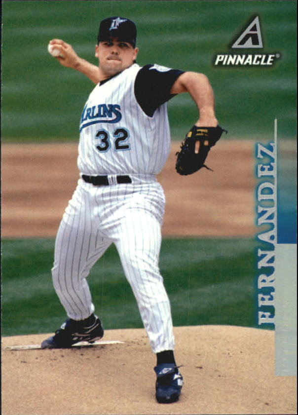 1998 Pinnacle Home Statistics Back #155 Alex Fernandez