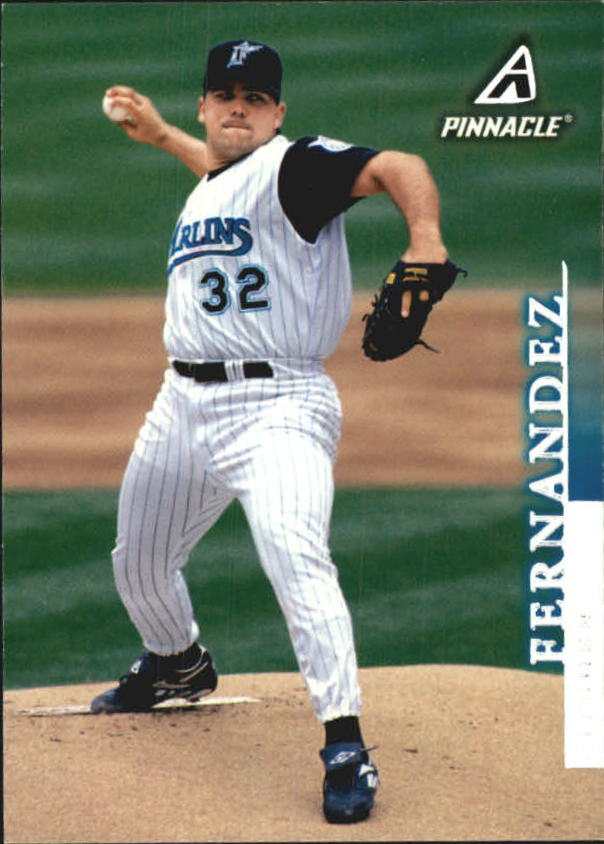 1998 Pinnacle Away Statistics Back #155 Alex Fernandez