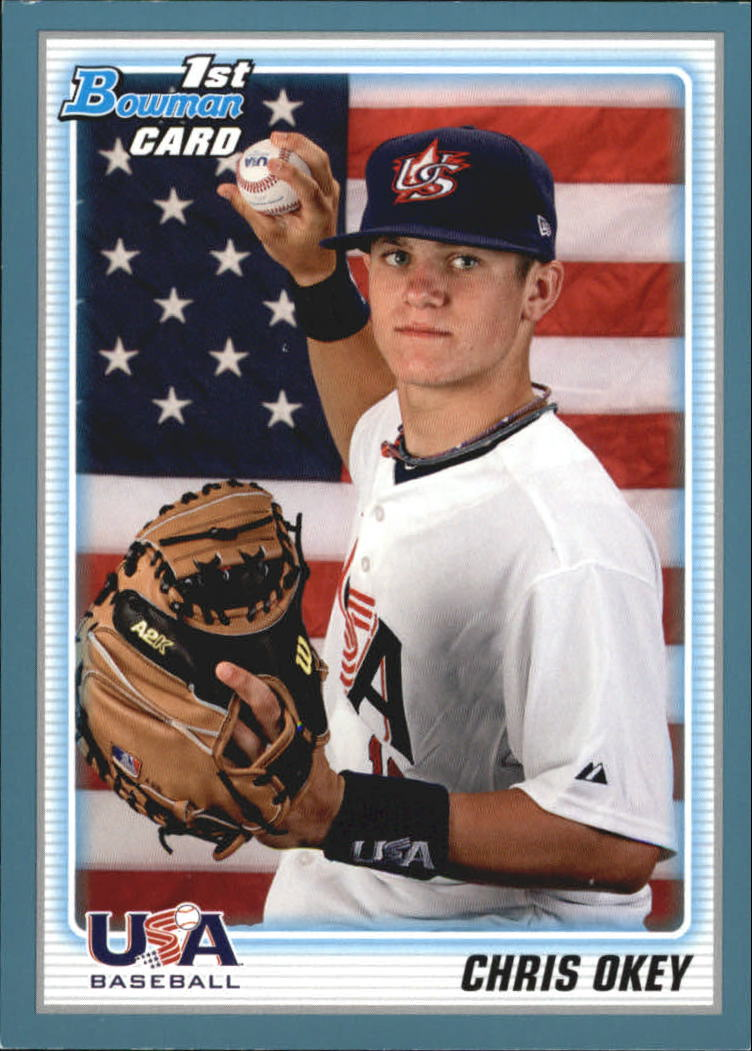 2010 Bowman Draft Prospects Blue #BDPP103 Chris Okey