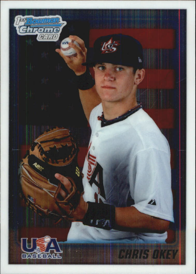 2010 Bowman Chrome Draft Prospects #BDPP103 Chris Okey