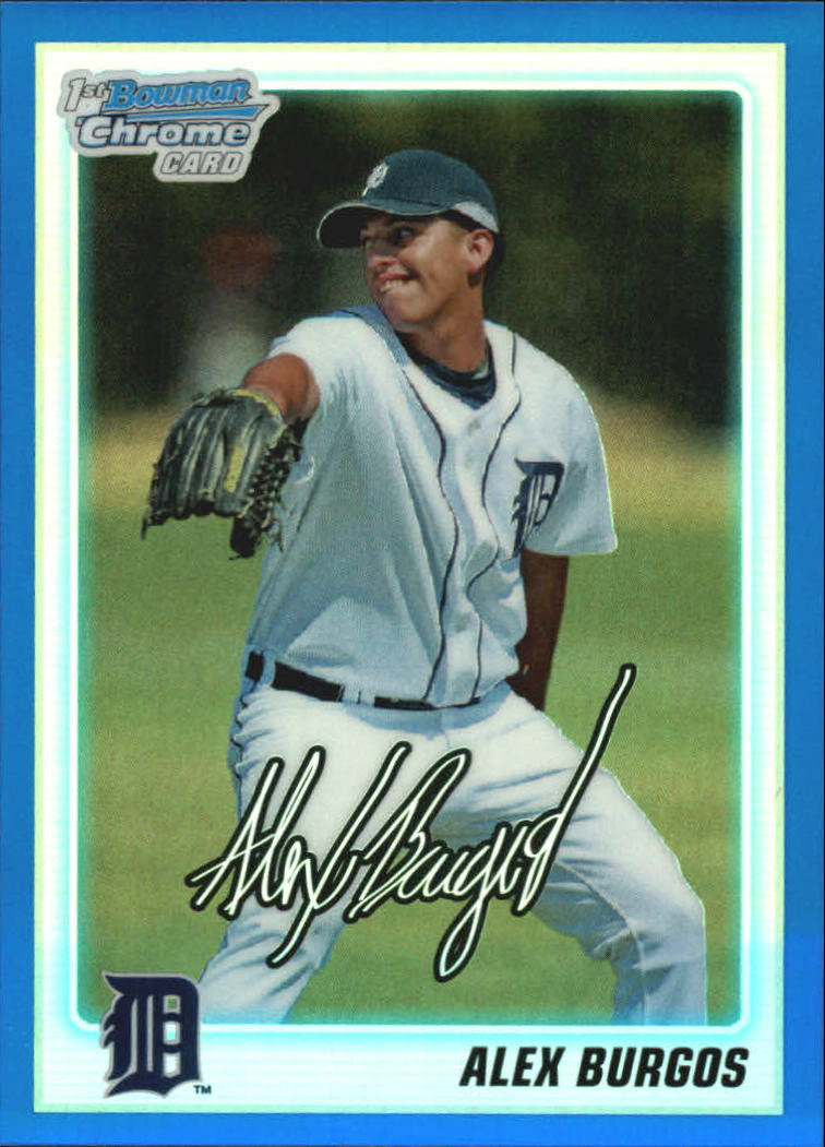 2010 Bowman Chrome Draft Prospects Blue Refractors #BDPP2 Alex Burgos