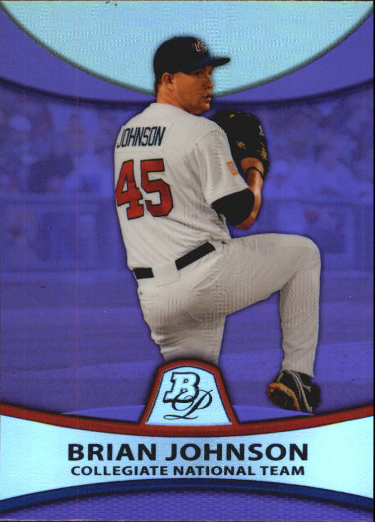 2010 Bowman Platinum Prospects Purple Refractors #PP38 Brian Johnson