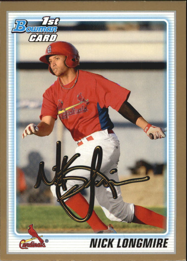2010 Bowman Draft Prospects Gold #BDPP22 Nick Longmire