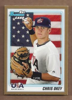 2010 Bowman Draft Prospects Gold #BDPP103 Chris Okey