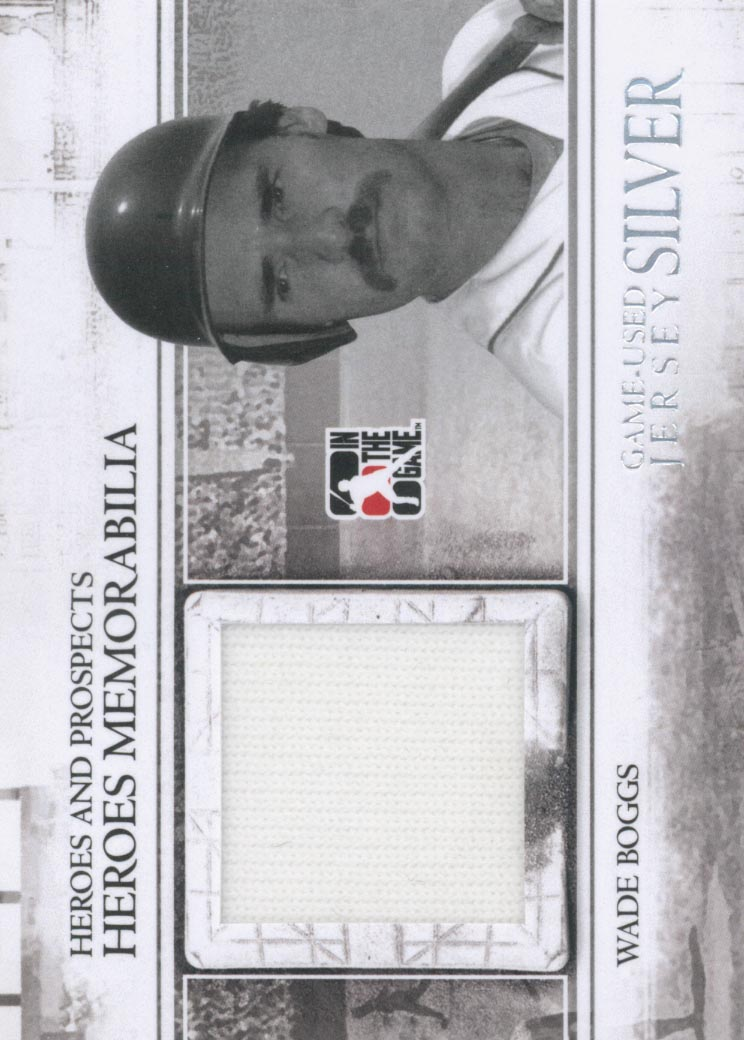 2011 ITG Heroes and Prospects Heroes Jerseys Silver #9 Wade Boggs