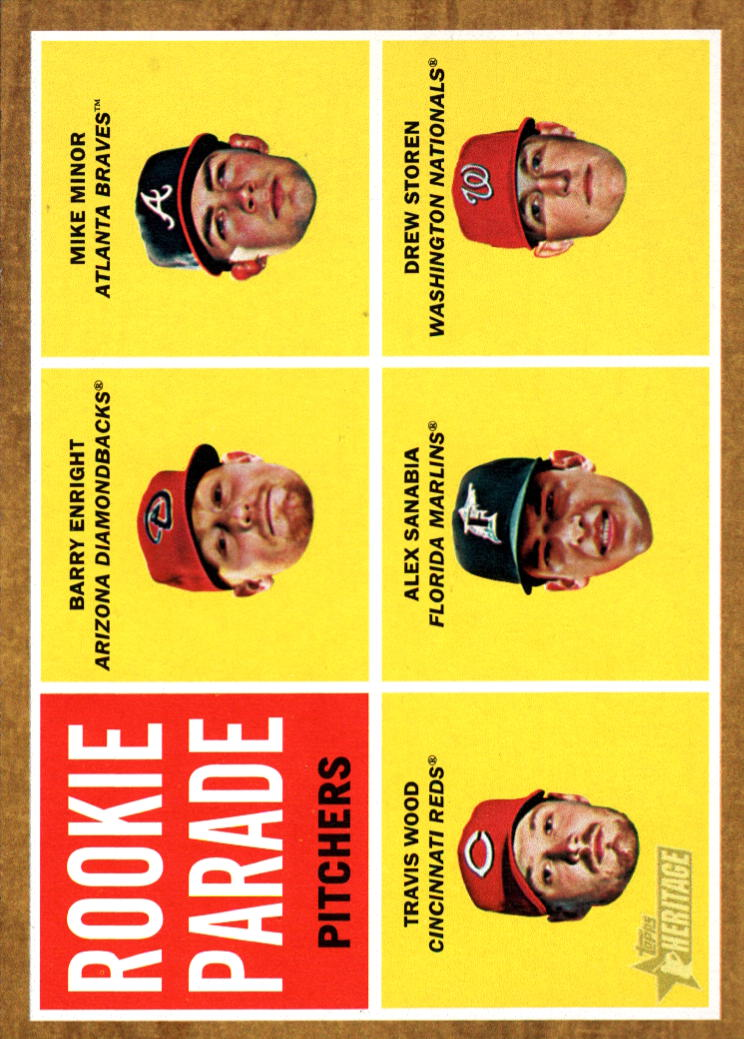 2011 Topps Heritage #494 Barry Enright RC/Mike Minor/Travis Wood/Alex Sanabia/Drew Storen SP