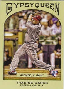 2011 Topps Gypsy Queen #314 Yonder Alonso RC SP