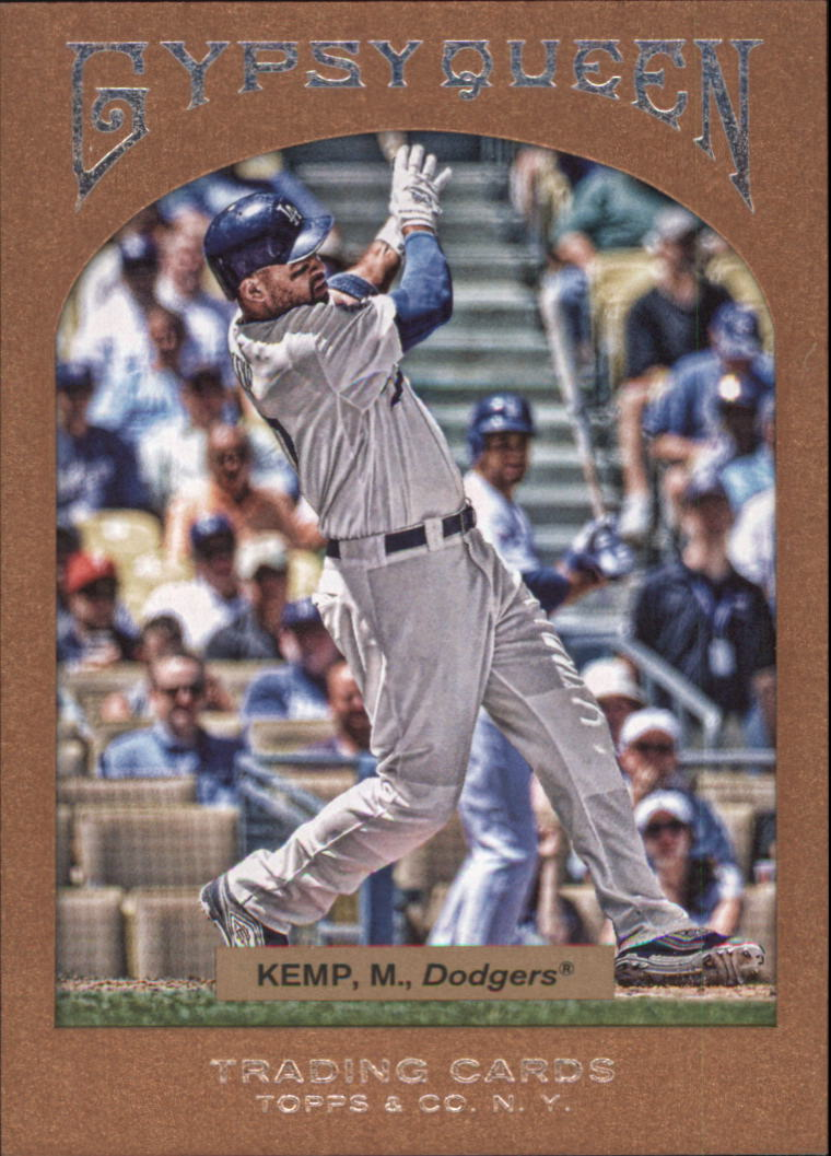 2011 Topps Gypsy Queen Framed Paper #15 Matt Kemp