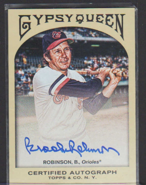 2011 Topps Gypsy Queen Autographs #BR Brooks Robinson