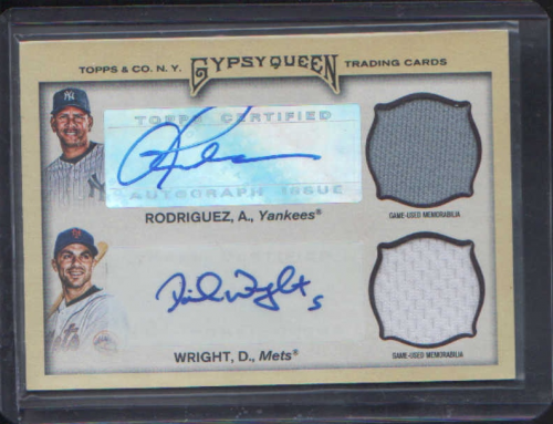2011 Topps Gypsy Queen Dual Relic Autographs #RW Alex Rodriguez/David Wright