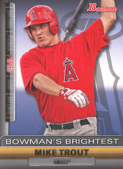 2011 Bowman Bowman's Brightest #BBR6 Mike Trout