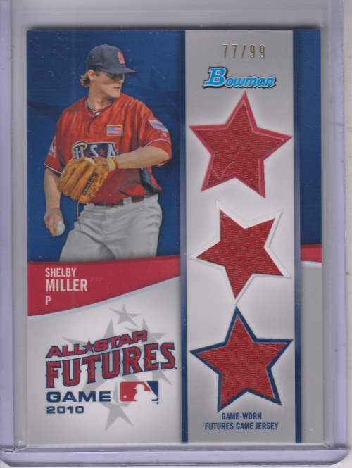2011 Bowman Future's Game Triple Relics #SM Shelby Miller