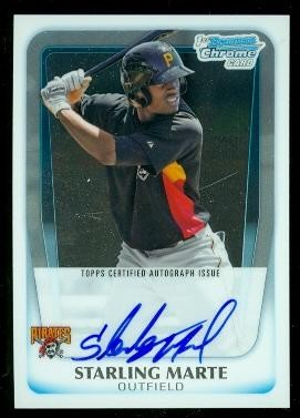 2011 Bowman Chrome Prospect Autographs #BCP178 Starling Marte